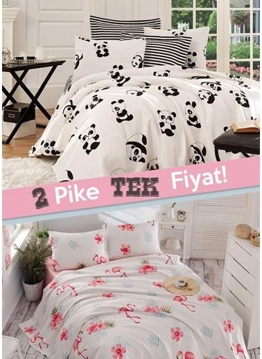 Eponj Home 2li Pike Tek Kişilik Panda + Flamenco  Beyaz